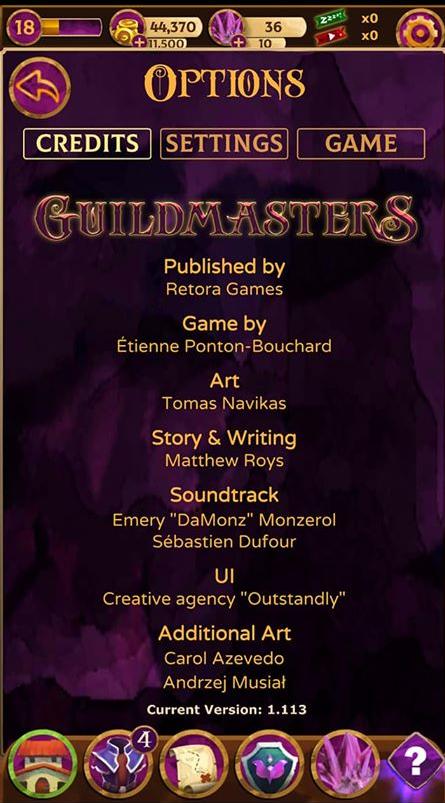 Guildmaster Credits